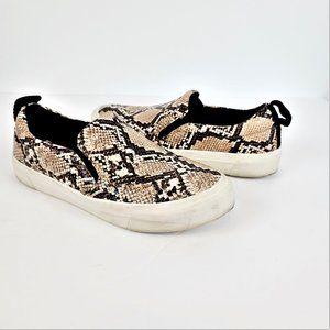 Zara Trafaluc Loafers Sz 40 Snakeskin Print